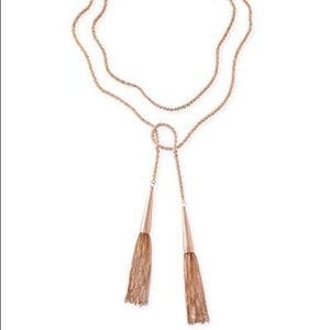 Kendra Scott Phara necklace in rose gold